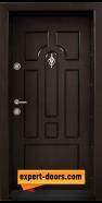 Блиндирана входна врата модел T-108, панел Тъмен орех