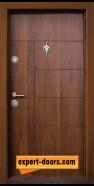 Блиндирана входна врата модел T-587, панел Златен дъб
