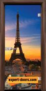 Стъклена интериорна врата Print G 13-12, каса Орех
