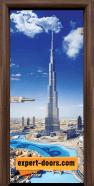 Стъклена интериорна врата Print G 13-16 Dubai, каса Орех